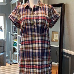 JCrew Plaid Shirt Dress